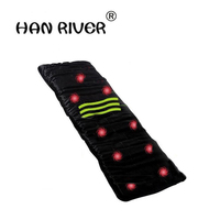 2018 Health Monitors Massager Acupunctue Mat 9 Vibrating Motors Full Body Far Infrared Heat Heathy Massage