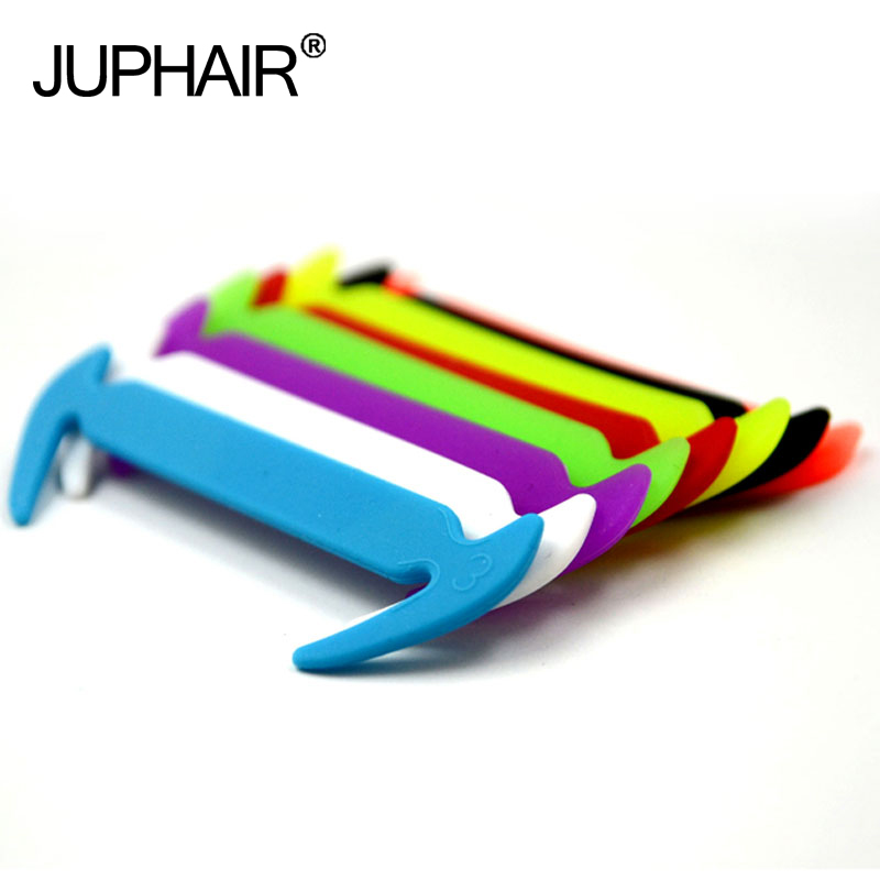 JUP 12 Pcs/Lot New No Tie Silicone Athletic Shoes Lazy Shoelaces Elastic Silicone Shoe Laces Shoestrings All Sneakers Fit Strap