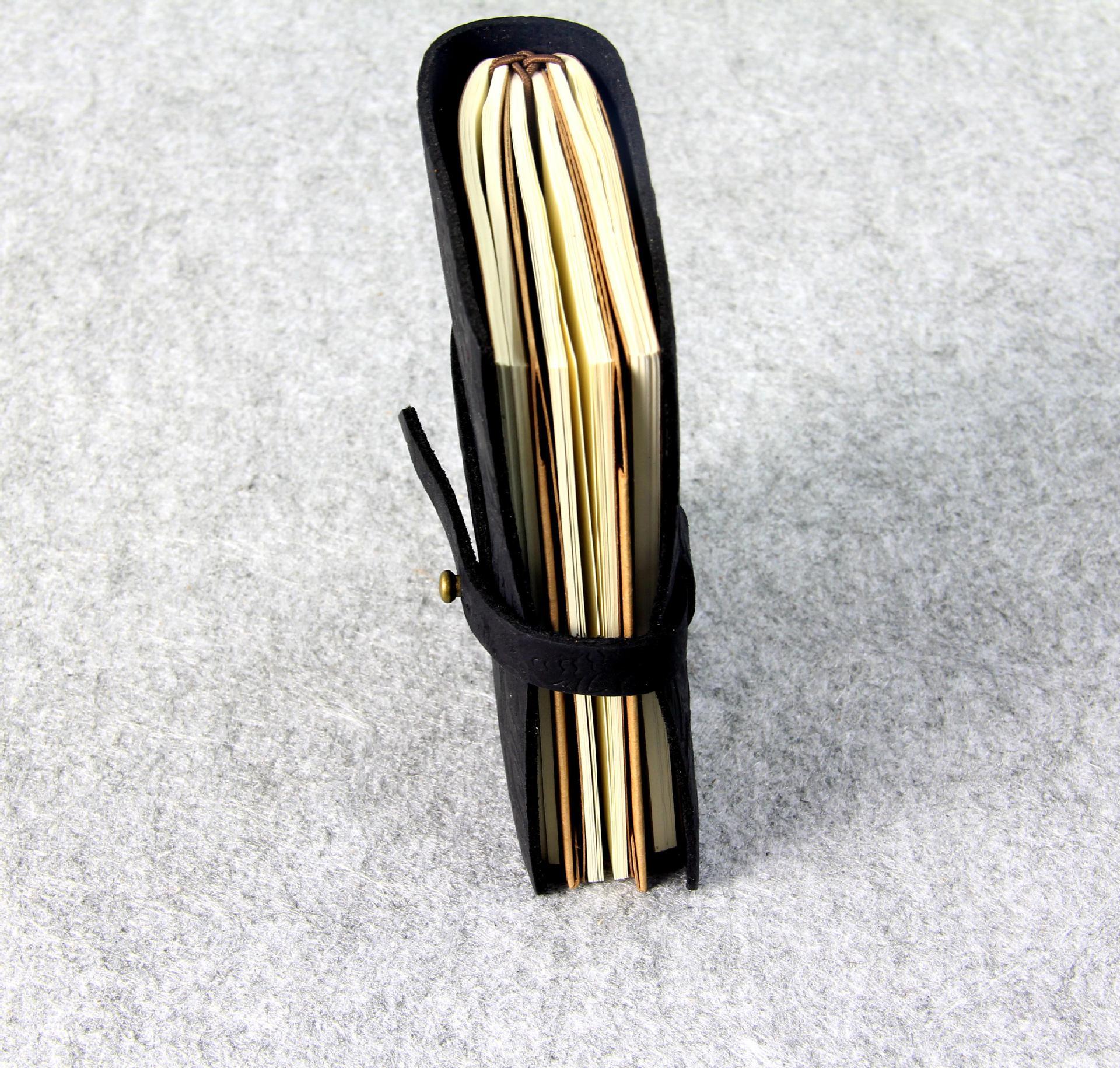 Äkta läder Notebook resenärer Journal Agenda Handgjorda Planner - Block och anteckningsböcker - Foto 3