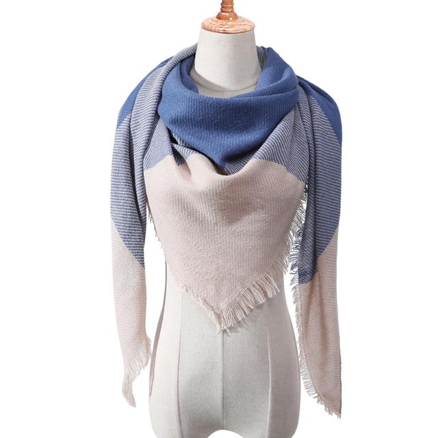 Designer 2019 knitted spring winter women scarf plaid warm cashmere scarves shawls luxury brand neck bandana  pashmina lady wrap