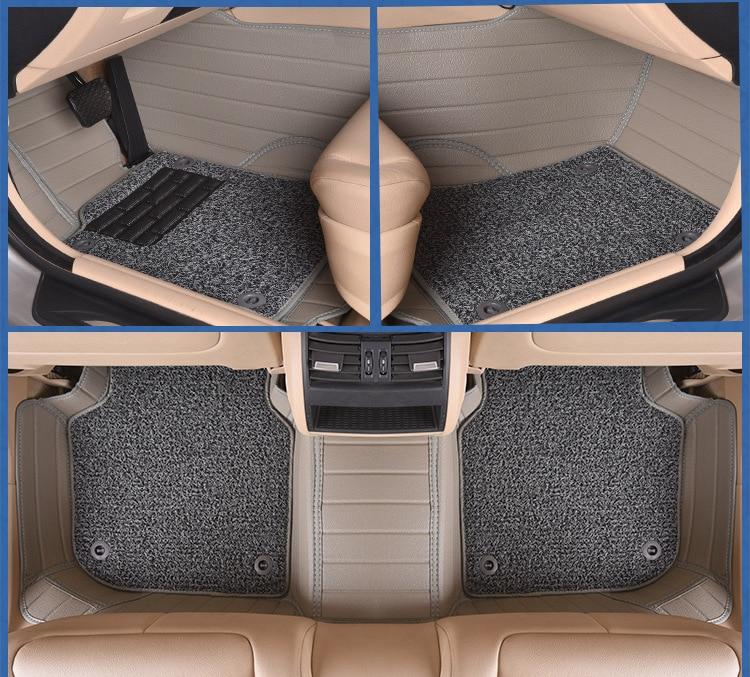 Myfmat custom foot leather car floor mats for Hyundai ROHENS Coupe tiburon Azera Grand SantaFe RV Verna free shipping anti slip in Floor Mats from Automobiles Motorcycles