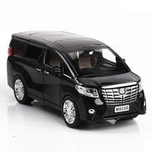 1:24 Toy Car Excellent Quality TOYOTA Alphard With Box Car Toy Alloy Car Diecasts & Toy Vehicles Car Model Toys For Children(China)
