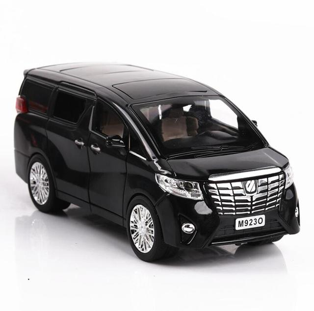 1:24 Toy Car Excellent Quality TOYOTA Alphard With Box Car Toy Alloy Car Diecasts & Toy Vehicles Car Model Toys For Children