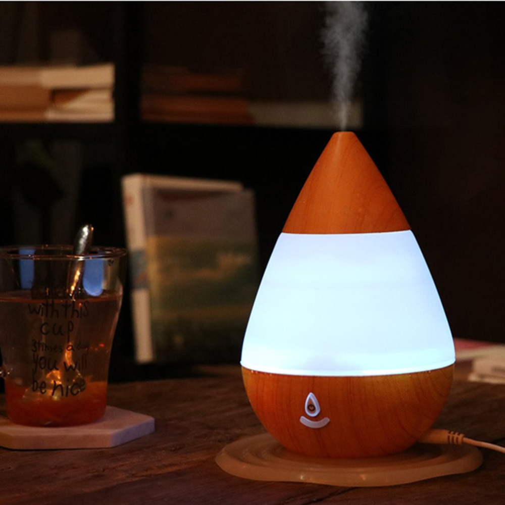 Waterdrop Shape USB Ultrasonic Aroma Diffuser Mist Humidifier Air Purifier 235ML humidifiers Bluetooth 16 Color LED Night Light compact usb humidifier air purifier aroma diffuser white green