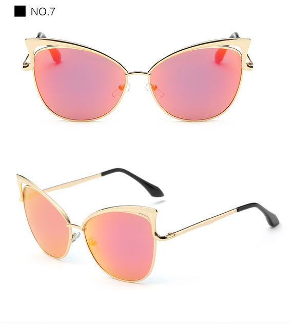 Luxury Cat Eye Sunglasses Women Brand Designer Retro Vintage Sun Glasses For Women Female Ladies Sunglass Mirror Lunettes Oculos (18)