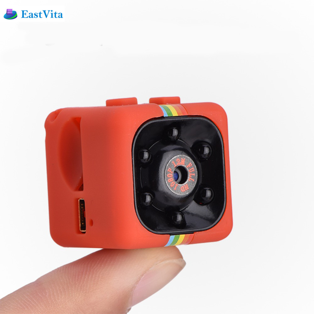 Galleria fotografica EastVita SQ11 SQ12 Mini Camera 1080P HD Night Vision mini Camcorder Mini DV DVR Video Recorder with 120 degree Wide Angle
