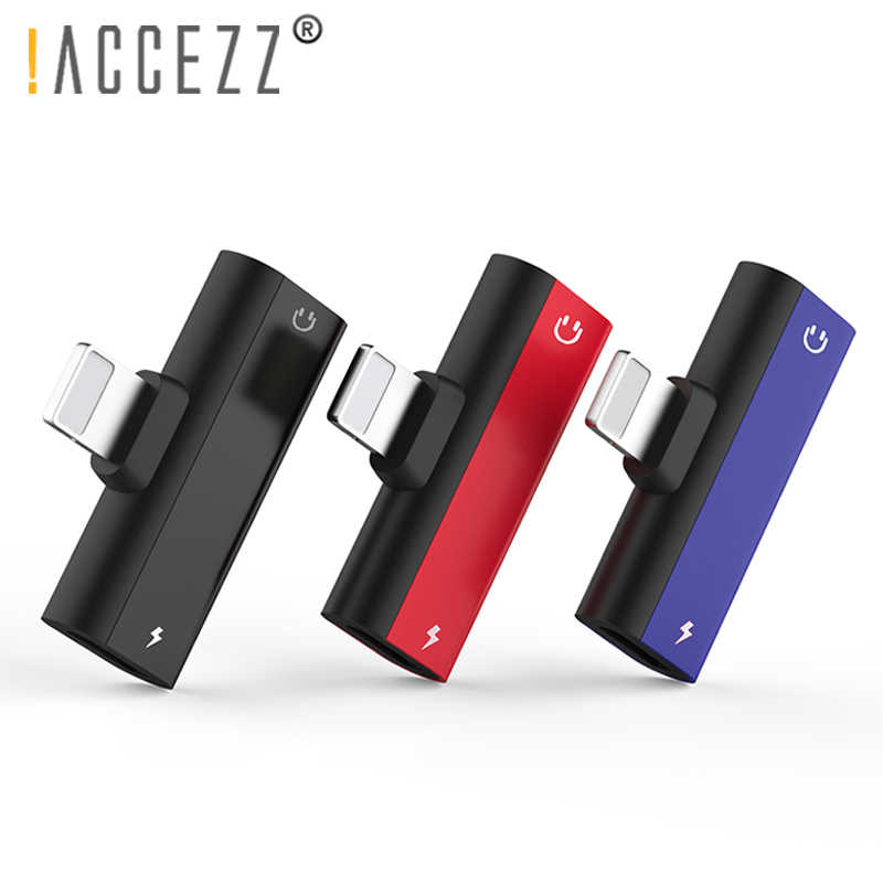 ! ACCEZZ Verlichting Adapter 2 in 1 Lading Audio Bellen Voor Iphone XS MAX X 8 7 Plus Opladen Sync Data oortelefoon Jack AUX Splitter