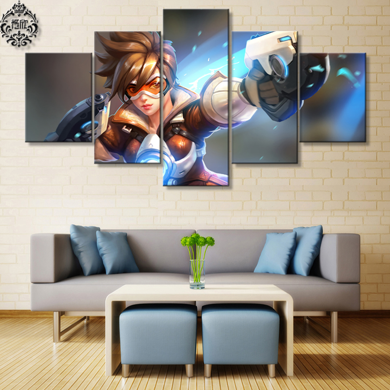 Modern Home Decor Pictures: Cuadros Wall Art Painting 5 Panel Canvas Printed Game