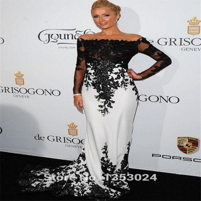 À Noir Robes Longues Manches Kim Tapis Kardashian Rouge Sexy Robe Rg6Y1qw