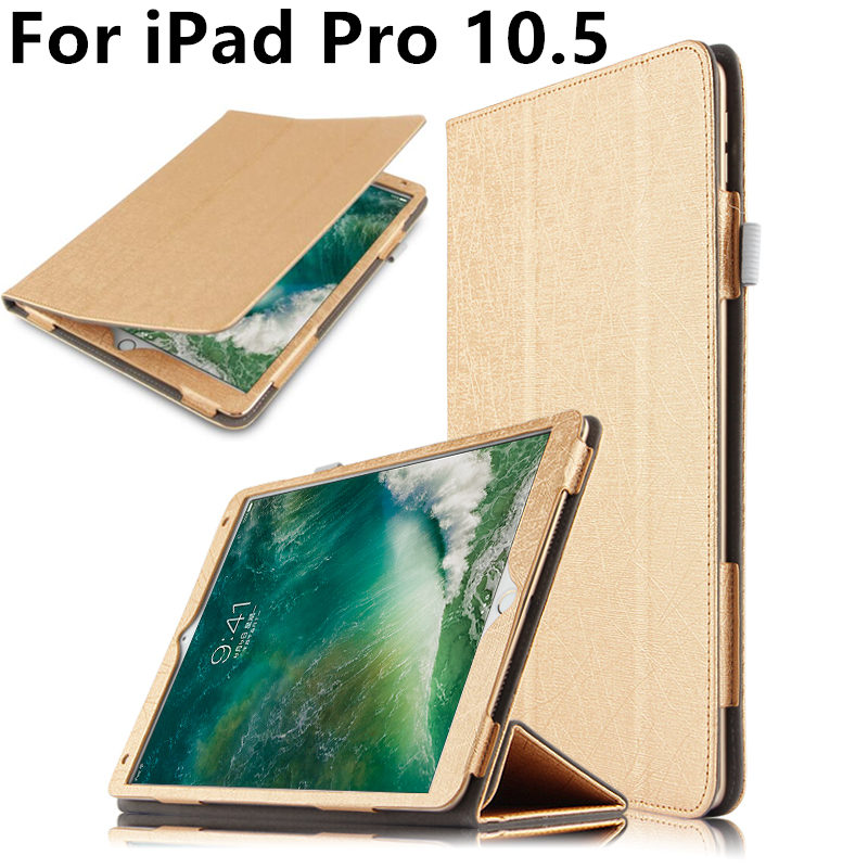 купить Case For iPad Pro 10.5 inch New 2017 Leather Smart Cover For Apple 10.5 iPadPro ipad10.5 Tablet Protector Protective PU 105 онлайн