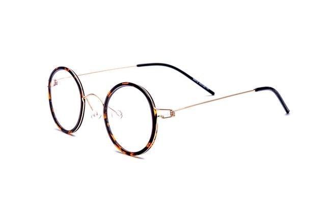 100% Real Titanium Screwless Eyewear Prescription Eyeglasses Round Korean  Glasses Frames Myopia Optical Frame Italy 8dcdc5609d