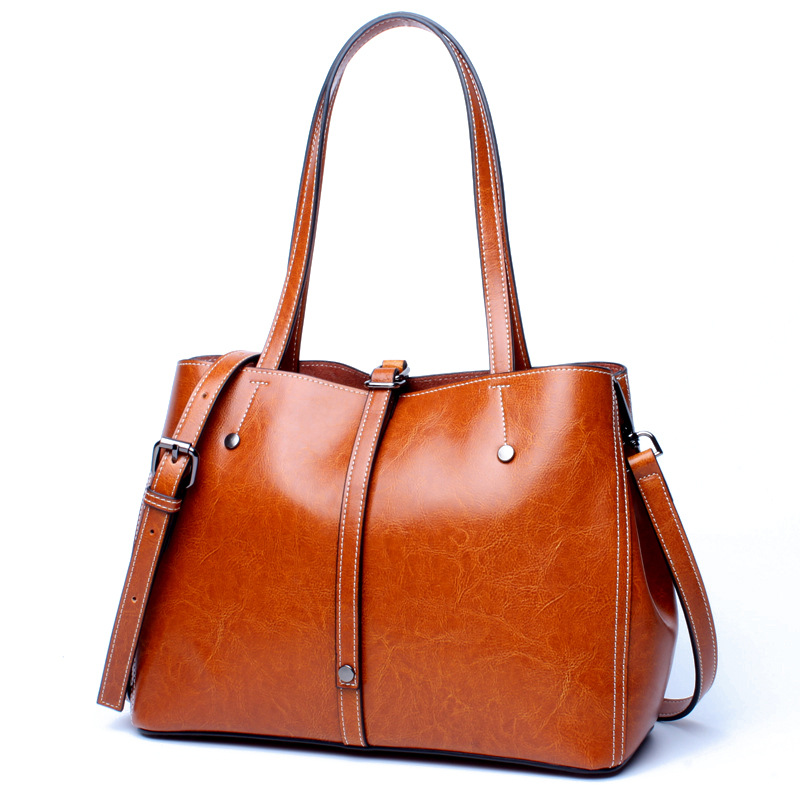 Ms. European and American style fashion leather hand bag shoulder bag Vertical Ms. style leather simple money bag shopping bag one shoulder inclined shoulder bag ms serpentine hand bag leather worn across multiple packets fashion hand caught
