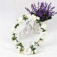 Handmade Crystal Pearl Wedding Hair Flower Bridal Hair Accessories Flower Rhinestone Bridal Headdress White Head Piece