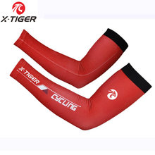 X-Tiger Women Anti-UV Cycling Arm Warmers Basketball Sleeve Running Arm Sleeves Bicycle Arm warmers Camping Summer Sports Safety(China)
