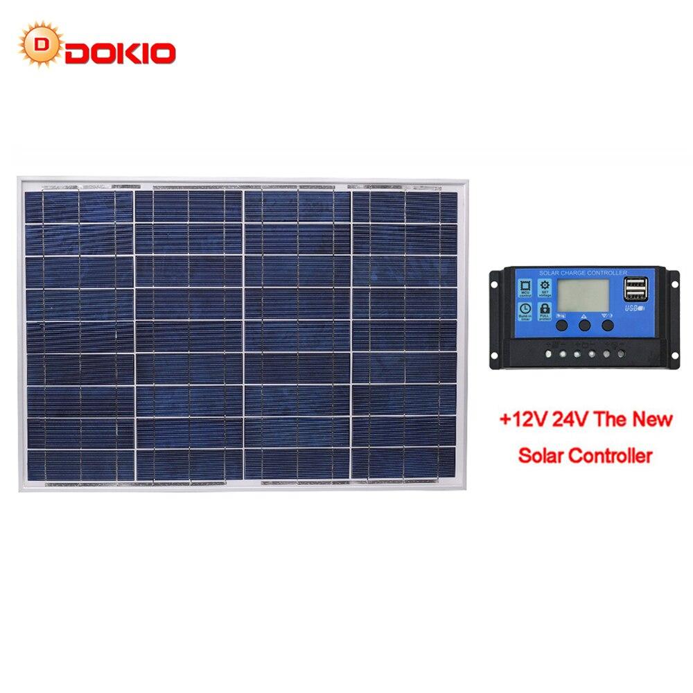 DOKIO 18V 40W Policristalino Do Painel Solar 460*660*25mm Potência De Silício Painel Solar de Alta Qualidade china bateria de Energia Solar Fotovoltaico