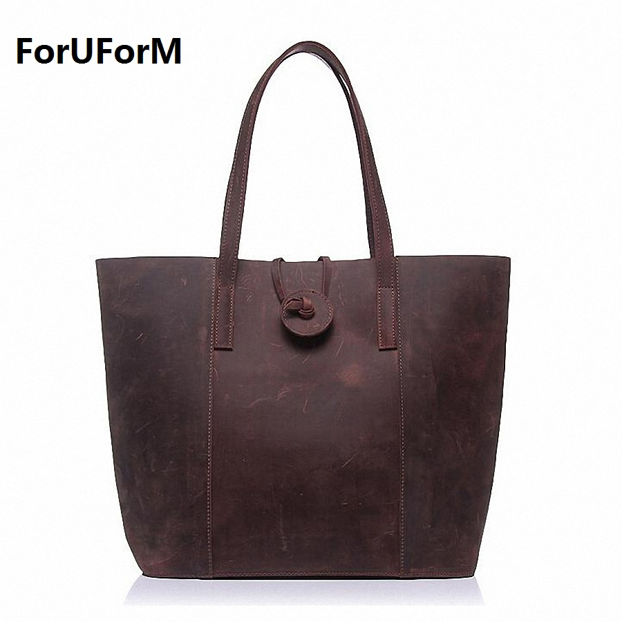 Real 100% Genuine Leather Bags Luxury Designer Brand Women Handbag High Quality Tote Composite bag Female Shoulder Bags LI-1439 [whorse] brand luxury fashion designer genuine leather bucket bag women real cowhide handbag messenger bags casual tote w07190