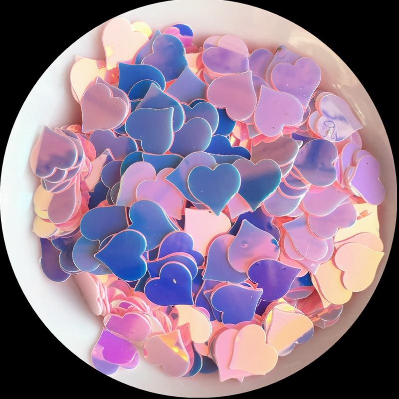 1200pcs/Pack 8mm Peach Heart Shape Sequins Flat Golden Pink Paillettes for Nail Art manicure,wedding confetti,Diy Accessories