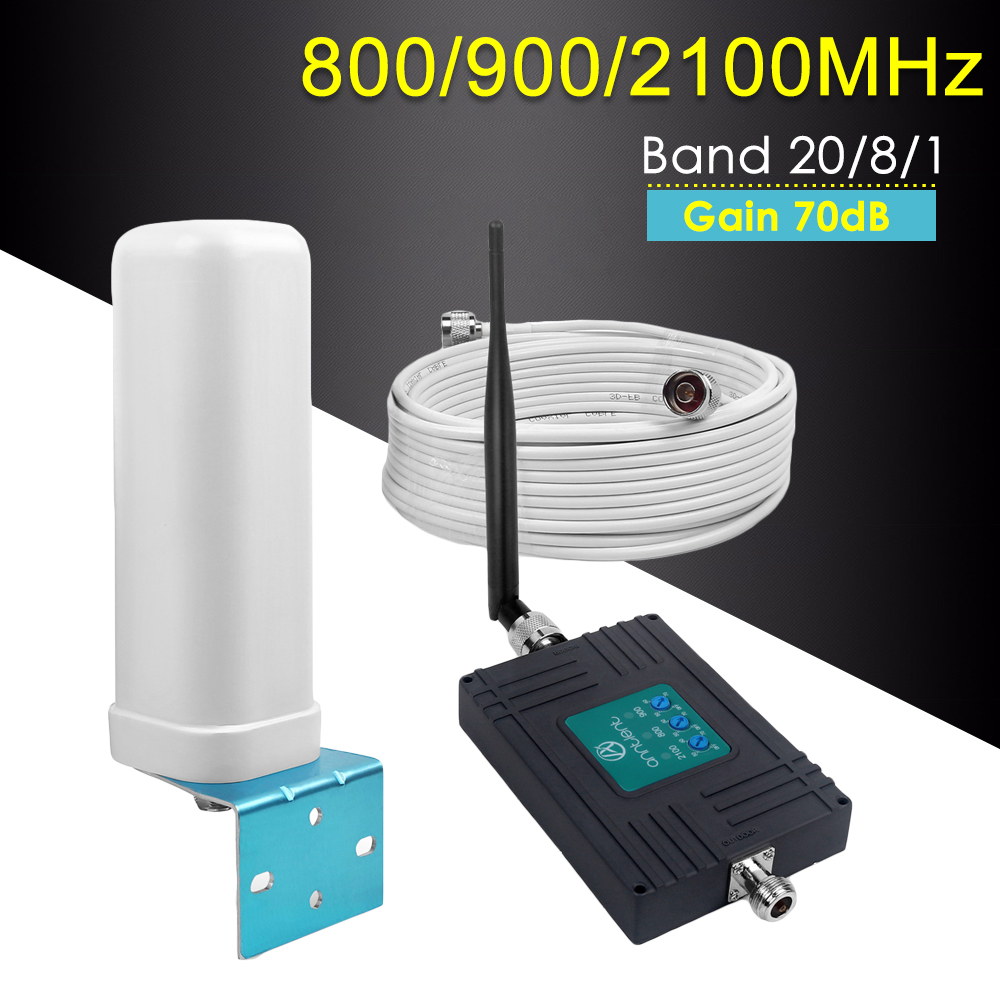 GSM Repeater 800/900/2100MHz Cellular Signal Booster 2G GSM 3G Repeater UMTS Tri Band Repeater Mini Mobile Phone Amplifier SetGSM Repeater 800/900/2100MHz Cellular Signal Booster 2G GSM 3G Repeater UMTS Tri Band Repeater Mini Mobile Phone Amplifier Set