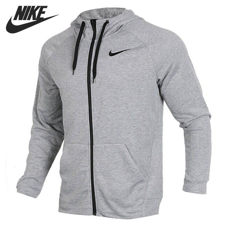 Original New Arrival 2018 NIKE DRY HOODIE FZ FLEECE Men's Jacket Hooded Sportswear original nike men s black knitted jacket hooded sportswear