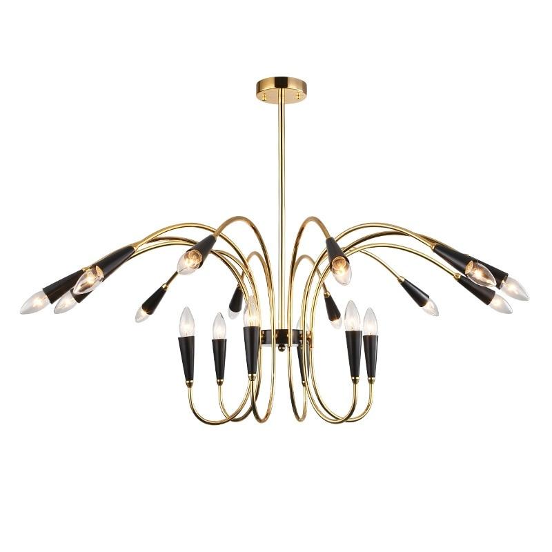 Modern art chandelier creative personality restaurant lighting modern minimalist bedroom lamp designer living room LED pendant