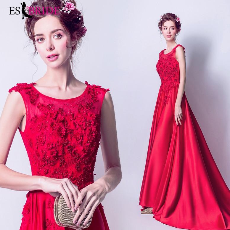 Special Occasion   Dress   Women Elegant Round Collar   Evening     Dresses   Formal Lace Appliques Party   Evening     Dresses   Plus Size ES2252