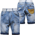 4021 baby shorts boys denim jeans shortr pants summer light blue kids cool summer baby fashion  2017 kids calf-length 70%length