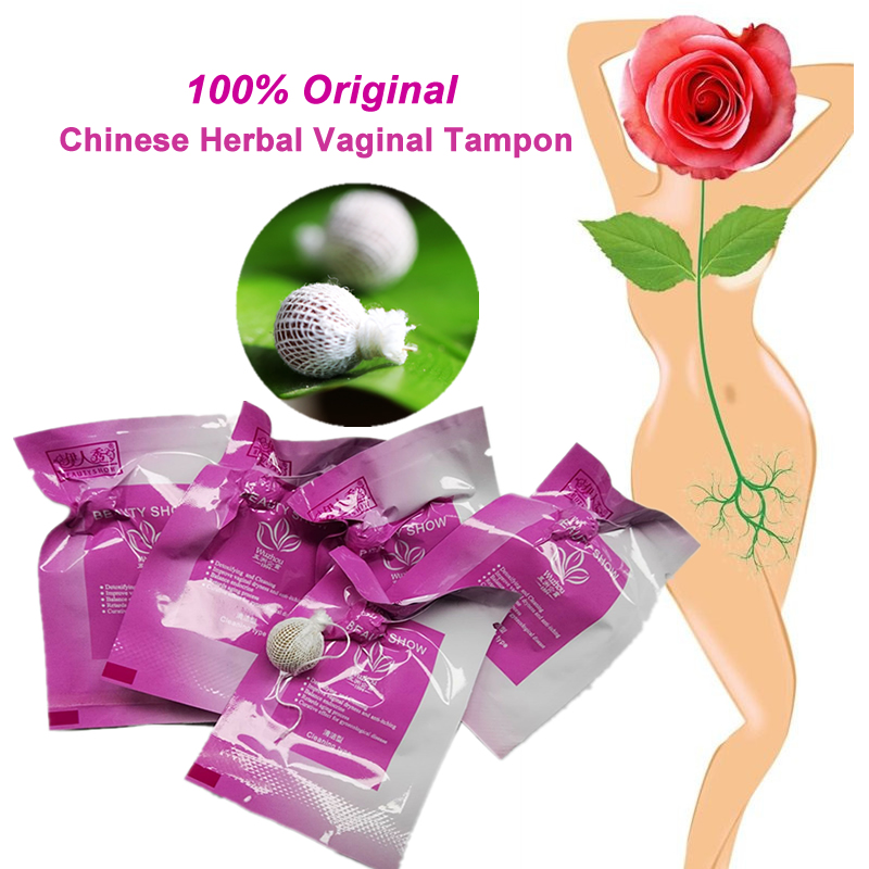 200pcs vaginal tampon discharge toxins feminine hygiene cure Chinese tampons medicine reduction vagina bacteria