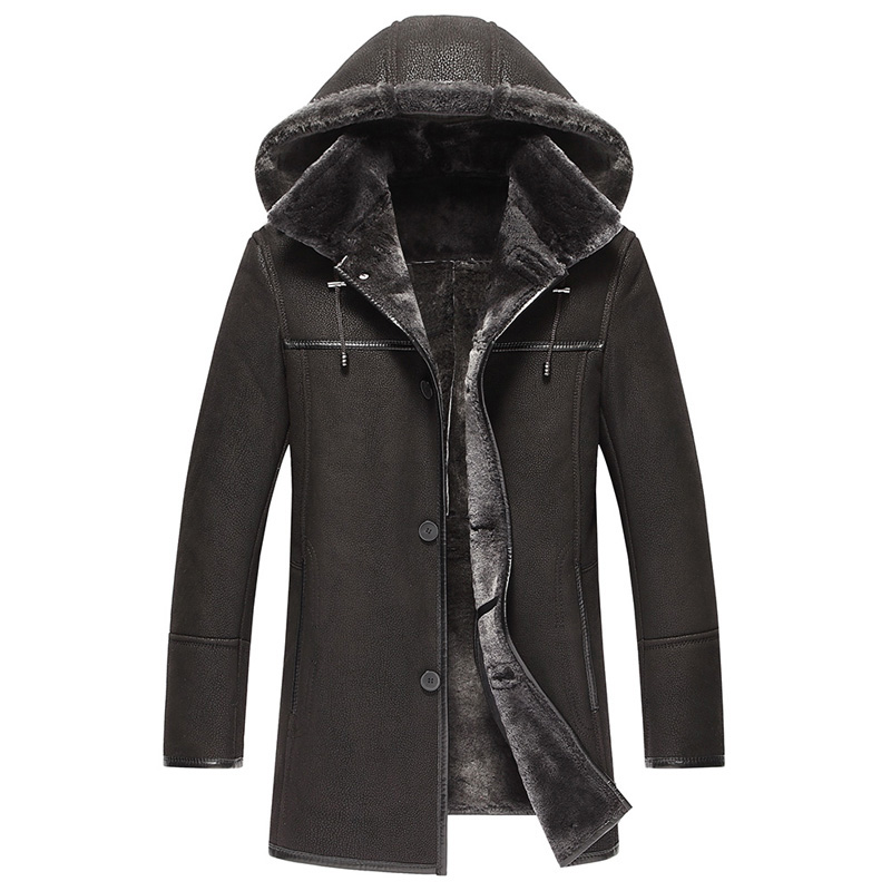 Long Shearling Coat with Hood Promotion-Shop for Promotional Long ...