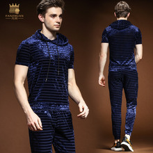 FANZHUAN Free Shipping New casual 2018 male Men s Summer thin short sleeved t shirt trousers