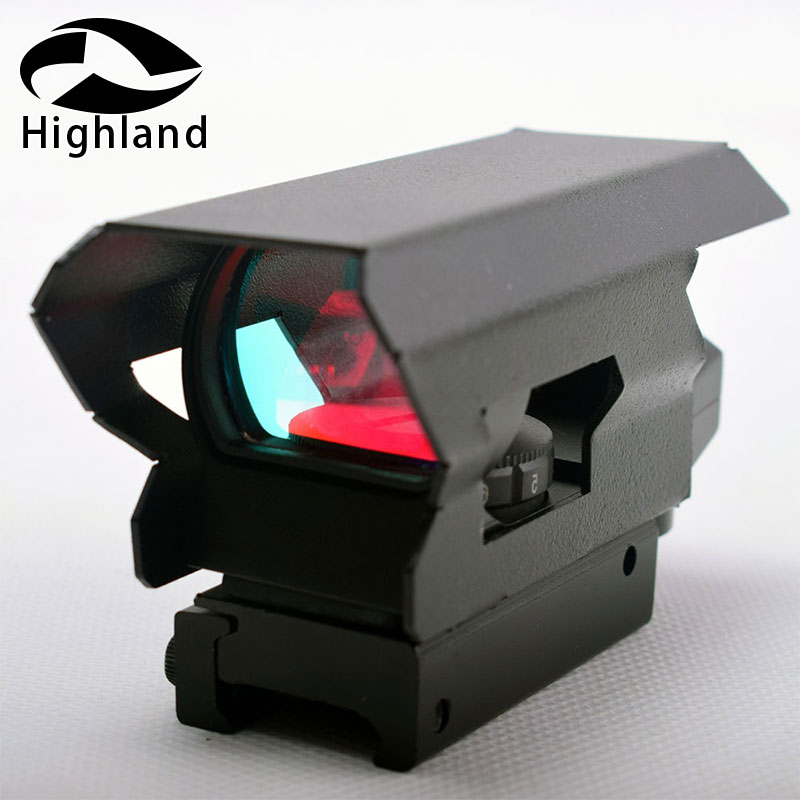 Hunting  Optics Holographic Red Dot Sight  Rainbow Lens Reflex 4 Reticle 20mm Picatinny Mount With Sunshade Tent