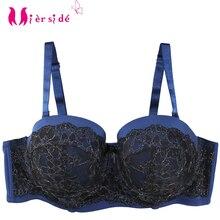 Mierside 1053 حجم كبير دفع ما يصل الصدرية الوردي/الأزرق مع الذهب الدانتيل مثير Bralette مريحة النساء الملابس الداخلية Everyday38 46B/C/D/DD/DDD