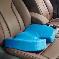 السيارات مقعد يغطي مقعد وسادة انتعاش بطيء رغوة الذاكرة القطن الجديد الأرداف دعم منصات مقعد السيارة غطاء