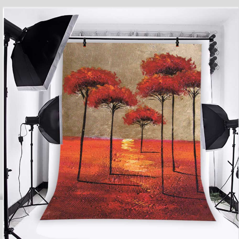 954441bc27ea1 Abstract painting background photo studio props vinyl 5x7ft or 3x5ft baby  tree photography backdrops jiebj241