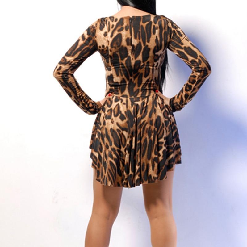 Lasperal 2017 Vestidos Y Dress Women Leopard Irregular Vintage Long Sleeve Night Club Party Mini Dresses Plus Size Femme Robe In From S
