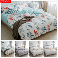 3/4 pcs Bedding Set Soft Cotton Skin Fabric Duvet Cover Bedsheet Pillowcase Bed Linens Kids Child Single Twin Queen King Size 2m
