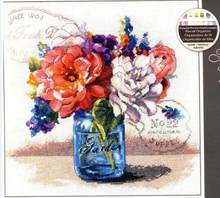 14/16/18/28 High Quality Lovely Counted Cross Stitch Kit Garden Bouquet Vase Flower Flowers dim 70-35334 35334(China)