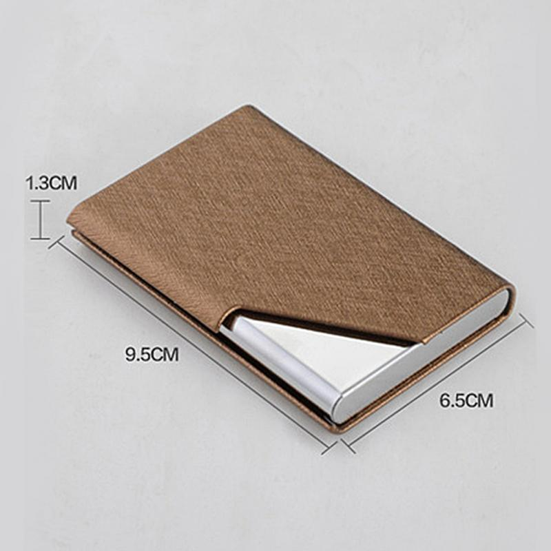 High Grade Leather Hot Waterproof Name ID Credit Business Card ...
