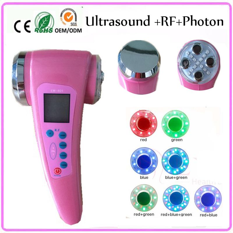Ultrasonic RF Cavitation 7 Colors Led Light Photon Rejuvenation Wrinkle Acne Spot Removal Skin Tightening Facial Firming Machine anti acne pigment removal photon led light therapy facial beauty salon skin care treatment massager machine