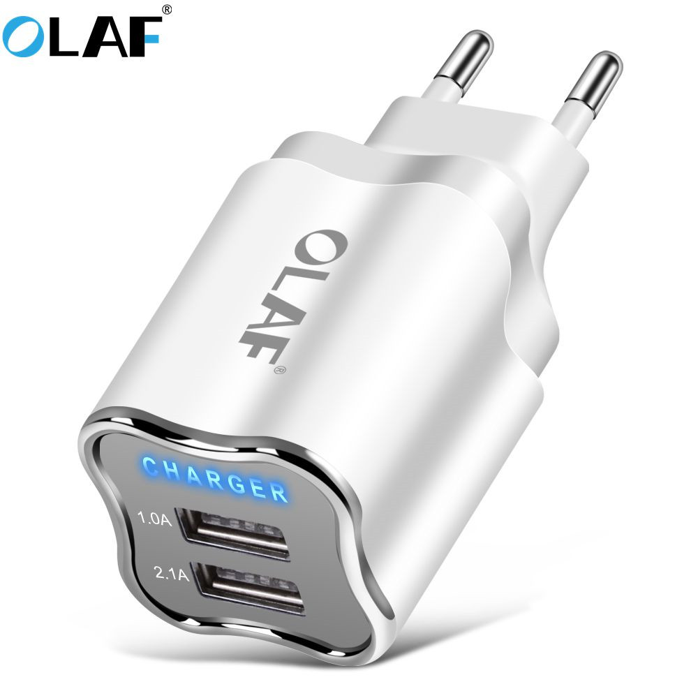 EU/US Plug 2 Port USB Charger 5V 2.1A Wall Adapter Mobile Phone