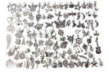 1 Pack/lot Mixed Antique Silver Color Anchor Animal Charms Pendants