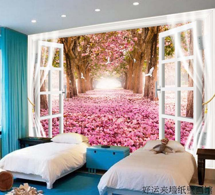 Custom 3d mural Custom large scenic mural wallpaper TV backdrop ...