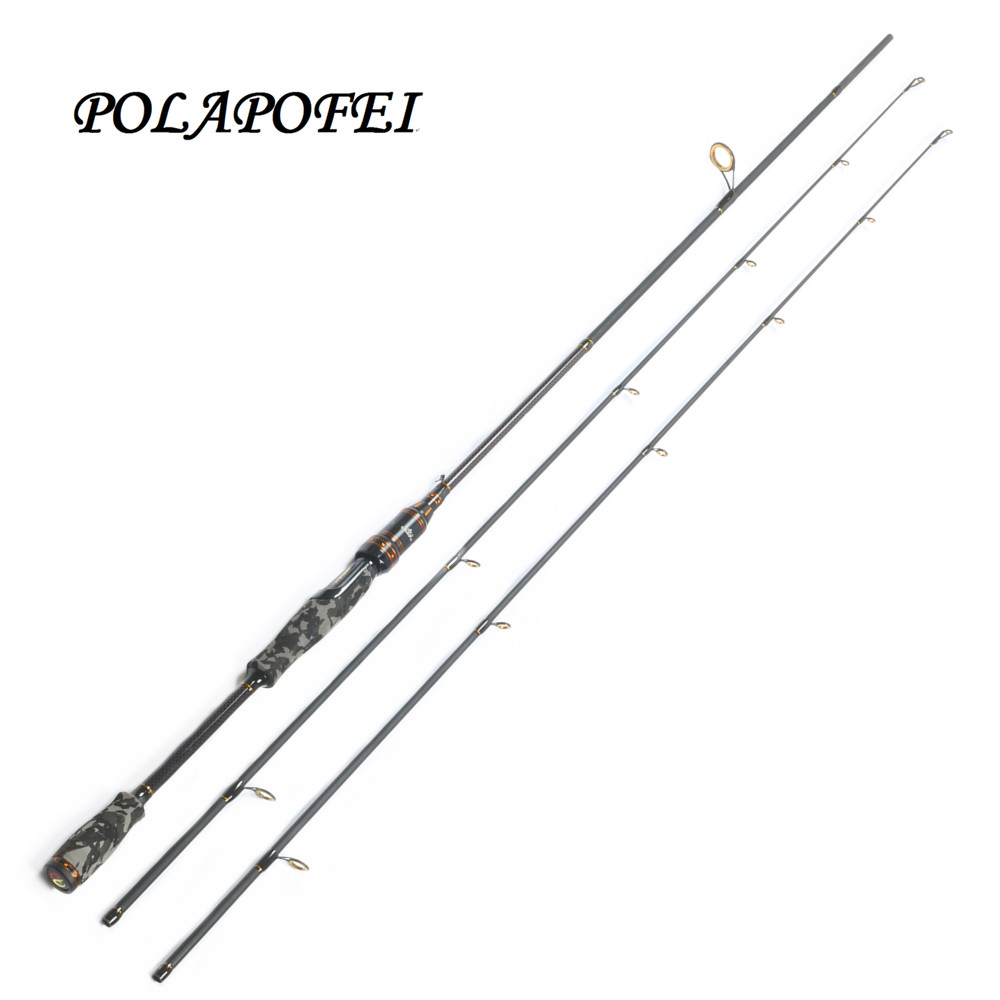 2 1m 2 tips M MH Carbon Spinning Fishing Rod Fast Action Fishing Casting Rod Lure
