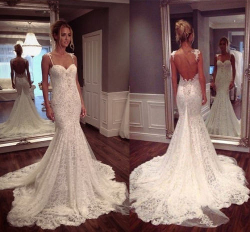 Lace Wedding Dress with Sweetheart Neckline