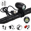 Rechargeable 5000LM 5V USB XML2 LED Front Bicycle Bike Light Head Lamp Headlight With 18650 Battery
