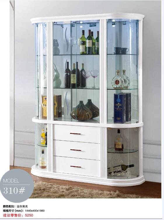 310 Living room furniture display showcase wine cabinet