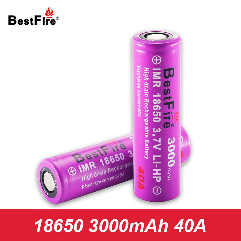 18650 Battery 40A 3000mAh 3.7V Li-ion Rechargeable Battery for 18650 Mech Mod E Cigarette Vape Box Mod Vaporizer Battery A119