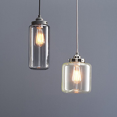 Edison Retro Vintage Lamp Loft Style Industrial Pendant Lighting with 2 Lights and Glass Bottle Shade For Dinning Room retro loft style industrial vintage pendant lights hanging lamps edison pendant lamp for dinning room bar cafe