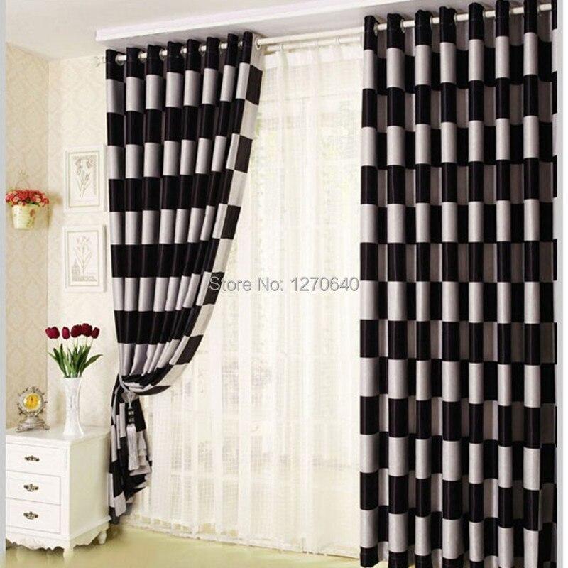 Modern Elegance Black Blackout Curtains For Living Room