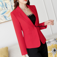 Lenshin Yellow Blazer Straight and Smooth Jacket Office Lady Style Coat Business Formal Wear Candy Color