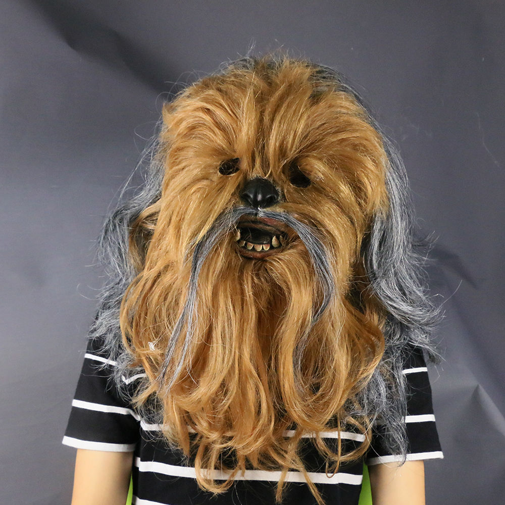 Star Wars Mask Cosplay Chewbacca Costume Mask Collectors Rubber Mask Prop Halloween Cos